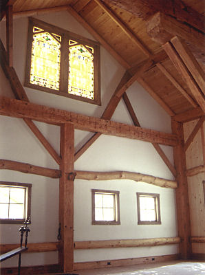 Restored timber frame barn
