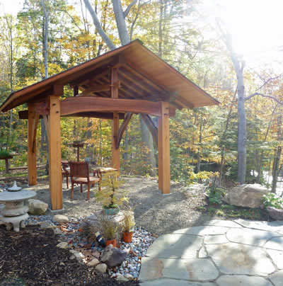 Timber Frame Gazebo David Yasenchack Framing amp Design